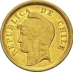Moneta > 10pesų, 1895 - Čilė  - obverse