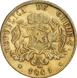 Moneta > 8scudi, 1839-1843 - Cile  - obverse