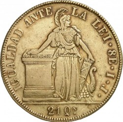 Moneta > 8scudi, 1839-1843 - Cile  - reverse