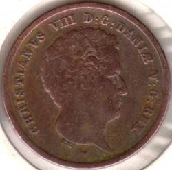 Moneta > 1rigsbankskilingas, 1842 - Danija  - obverse