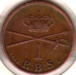 Moneta > 1rigsbankskilingas, 1842 - Danija  - reverse