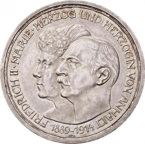Anniversario Matrimonio Tedesco.5 Marchi 1914 Federico Ii E Maria Di Baden Impero Tedesco