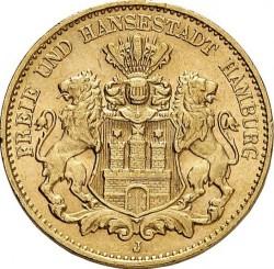 Moneda > 10marcos, 1908 - Alemán (Imperio)  - obverse