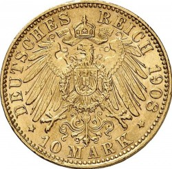 Moneda > 10marcos, 1908 - Alemán (Imperio)  - reverse