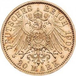Монета > 20марок, 1900-1905 - Германская империя  - reverse