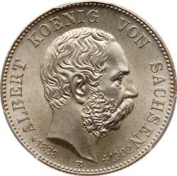 Moneda > 2marcos, 1902 - Alemán (Imperio)  (Muerte de Alberto de Sajonia) - obverse