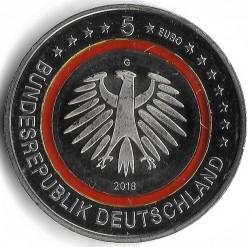 Monēta > 5eiro, 2018 - Vācija  (Subtropical Zone) - obverse