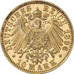 Moneta > 10markių, 1891-1902 - Vokietijos imperija  - reverse