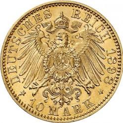 Moneda > 10marcos, 1891-1902 - Alemán (Imperio)  - reverse