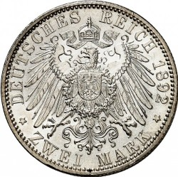 Moneda > 2marcos, 1892-1902 - Alemán (Imperio)  - reverse