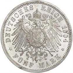 Moneda > 5marcos, 1902-1907 - Alemán (Imperio)  - reverse
