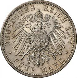 Moneda > 5marcos, 1907 - Alemán (Imperio)  (Muerte de Federico I) - reverse
