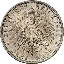 Moneda > 3marcos, 1911 - Alemán (Imperio)  (90º Aniversario - Nacimiento del Príncipe Regente Luitpold) - reverse