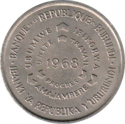 Монета > 10франков, 1968-1971 - Бурунди  (ФАО - Продовольственная программа) - obverse