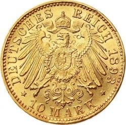 Moneda > 10marcos, 1890-1900 - Alemán (Imperio)  - reverse