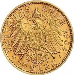 Moneda > 10marcos, 1900-1912 - Alemán (Imperio)  - reverse
