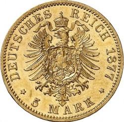 Moneda > 5marcos, 1877-1878 - Alemán (Imperio)  - reverse