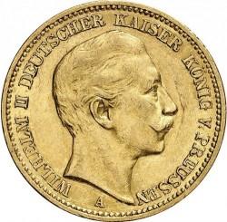 Moneda > 20marcos, 1888-1889 - Alemán (Imperio)  - obverse