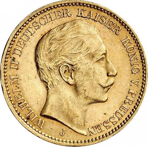 Coin 20 Mark 1890 1913 German Empire Obverse