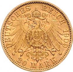 Moneda > 20marcos, 1890-1913 - Alemán (Imperio)  - reverse