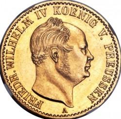 Монета > 1крона, 1858-1860 - Прусия  - obverse