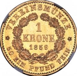 Монета > 1крона, 1858-1860 - Прусия  - reverse