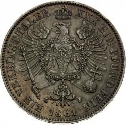 Moneda > 1vereinsthaler, 1861-1863 - Prusia  - reverse