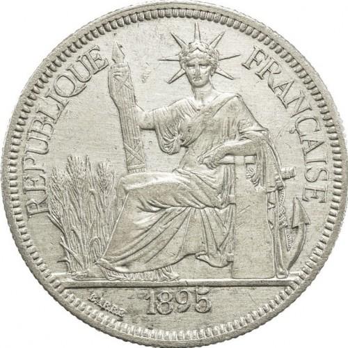 1 Piaster 1885 1895 Französisch Indochina Münzen Wert Ucoinnet