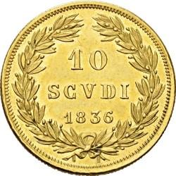 Монета > 10скудо, 1835-1845 - Папська область  - reverse