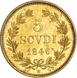 Монета > 5скудо, 1846-1854 - Папська область  - reverse