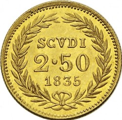 Монета > 2.5скудо, 1835-1846 - Папська область  - reverse