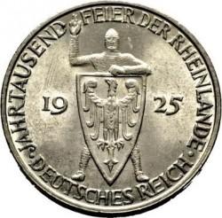 Moneda > 3reichsmark, 1925 - Alemania  (1000 años de Renania) - obverse