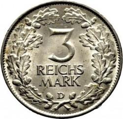 Moneda > 3reichsmark, 1925 - Alemania  (1000 años de Renania) - reverse
