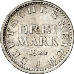 Moneda > 3marcos, 1924-1925 - Alemania  - reverse