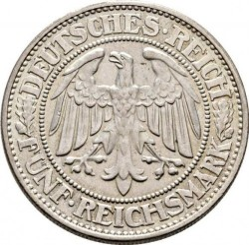 Moneda > 5reichsmark, 1927-1933 - Alemania  - reverse