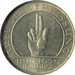 Moneda > 3reichsmark, 1929 - Alemania  (10.° Aniversario de la Constitución de Weimar) - reverse