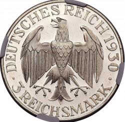 Moneda > 3reichsmark, 1930 - Alemania  (Vuelo de el Graf Zeppelin) - obverse