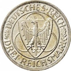 Moneda > 3reichsmark, 1930 - Alemania  (Liberación de Renania) - obverse
