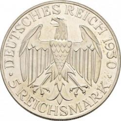Moneda > 5reichsmark, 1930 - Alemania  (Vuelo de el Graf Zeppelin) - obverse