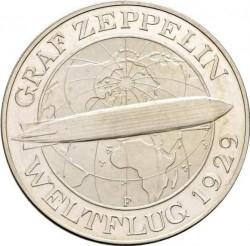 Moneda > 5reichsmark, 1930 - Alemania  (Vuelo de el Graf Zeppelin) - reverse