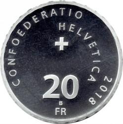 Moneta > 20franków, 2018 - Szwajcaria  (Przełęcz Klausenpass) - obverse
