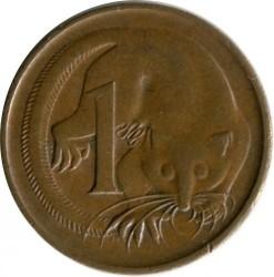 Moneda > 1centavo, 1970 - Australia  - reverse