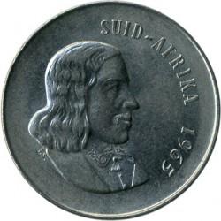 "Монета > 20центов, 1965-1969 - ЮАР  (Надпись на языке африкаанс - ""SUID-AFRIKA"") - obverse"