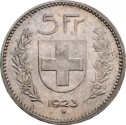 Moeda > 5francos, 1922-1923 - Suíça  - reverse