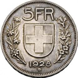 Moeda > 5francos, 1924-1928 - Suíça  - reverse