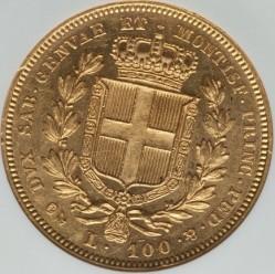 Монета > 100лири, 1832-1842 - Сардиния  - reverse