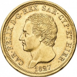 Moneta > 80lire, 1824-1831 - Sardegna  - obverse