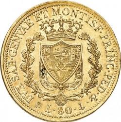 Moneta > 80lire, 1824-1831 - Sardegna  - reverse