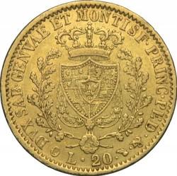 Moneta > 20lire, 1830 - Sardegna  - reverse
