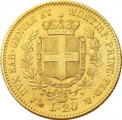 Monēta > 20liru, 1850-1861 - Sardinia  - reverse